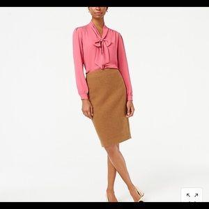 NWT JCrew wool skirt- lined